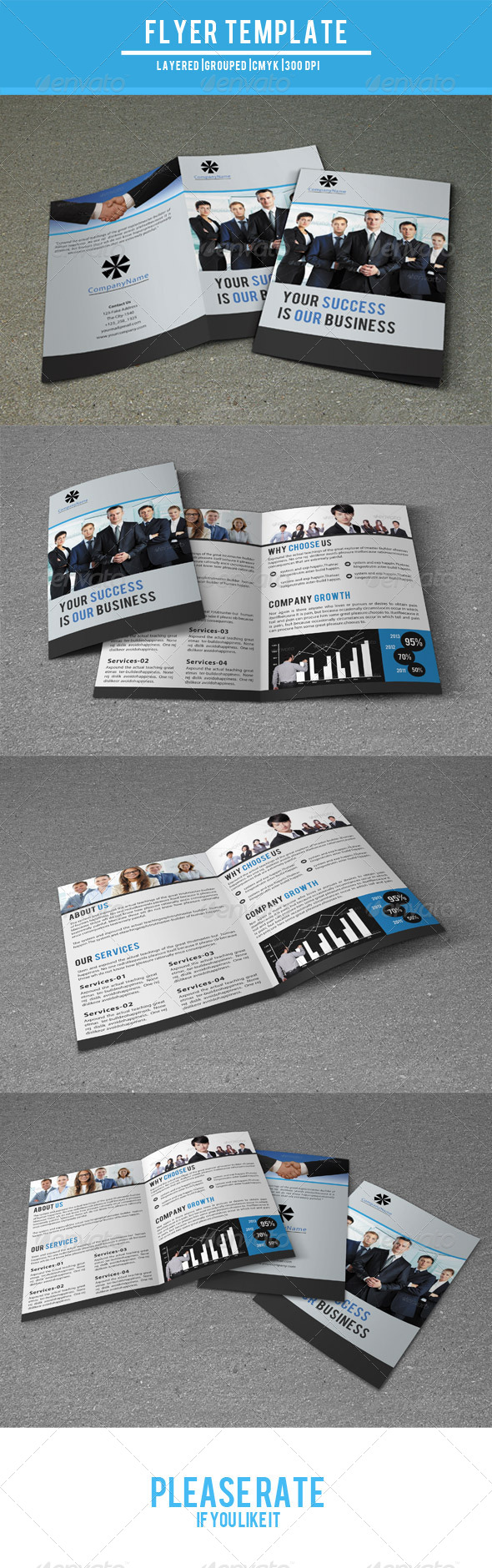 GraphicRiver Bifold Business Brochure-V44 7960102