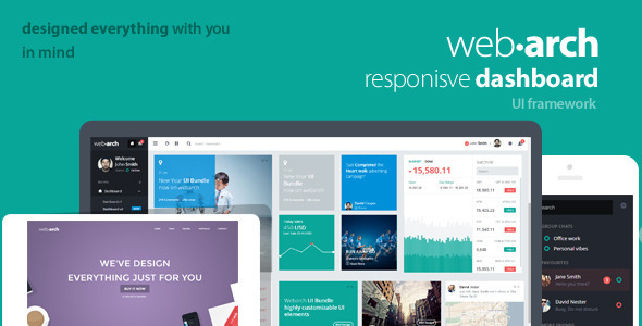 Webarch - Responsive Admin Dashboard Template - Admin Templates Site Templates