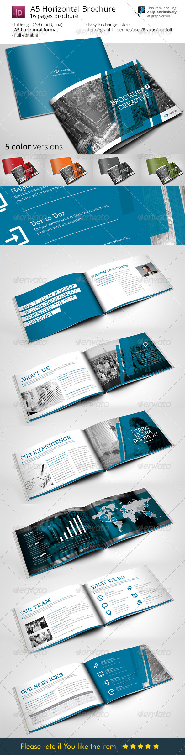 GraphicRiver A5 Brochure Creative 7960373