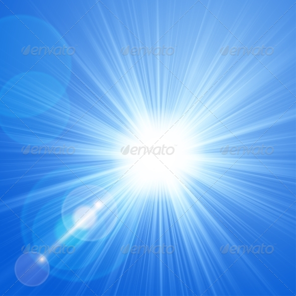 GraphicRiver Sun with Lens Flare Background 7960395