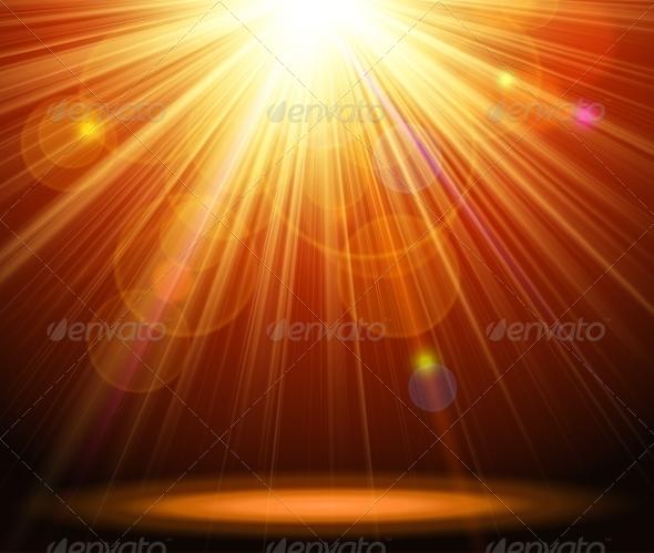 GraphicRiver Magic Light Background 7960438