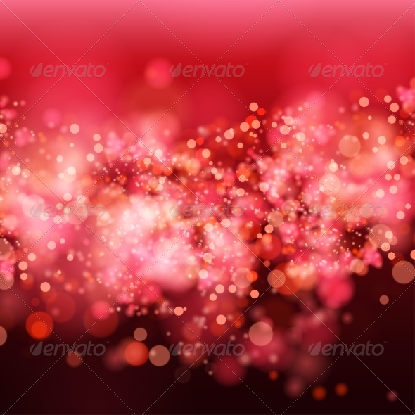 GraphicRiver Lights on Red Bokeh Background 7960485