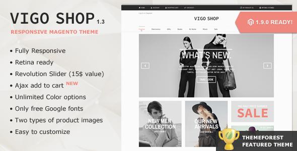 Vigo Shop - Premium Responsive Magento Theme - Magento eCommerce