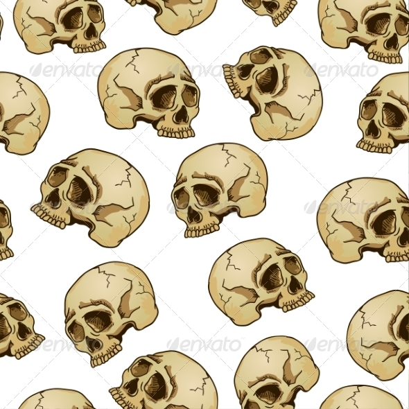 GraphicRiver Skull Pattern 7961388