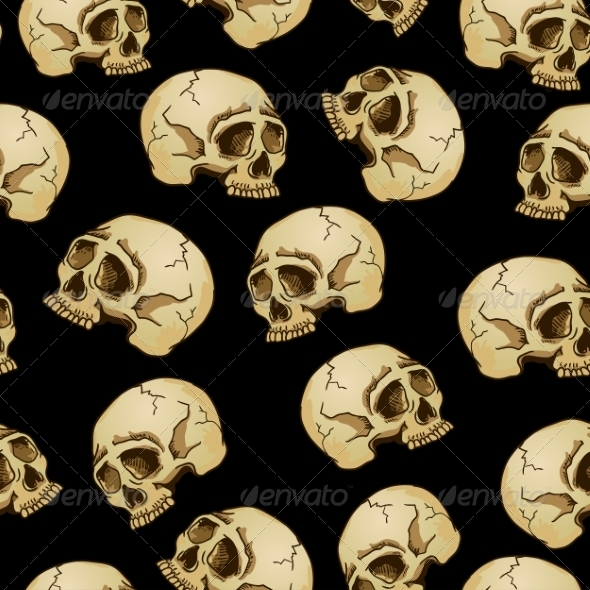 GraphicRiver Seamless Background with Skulls 7961397