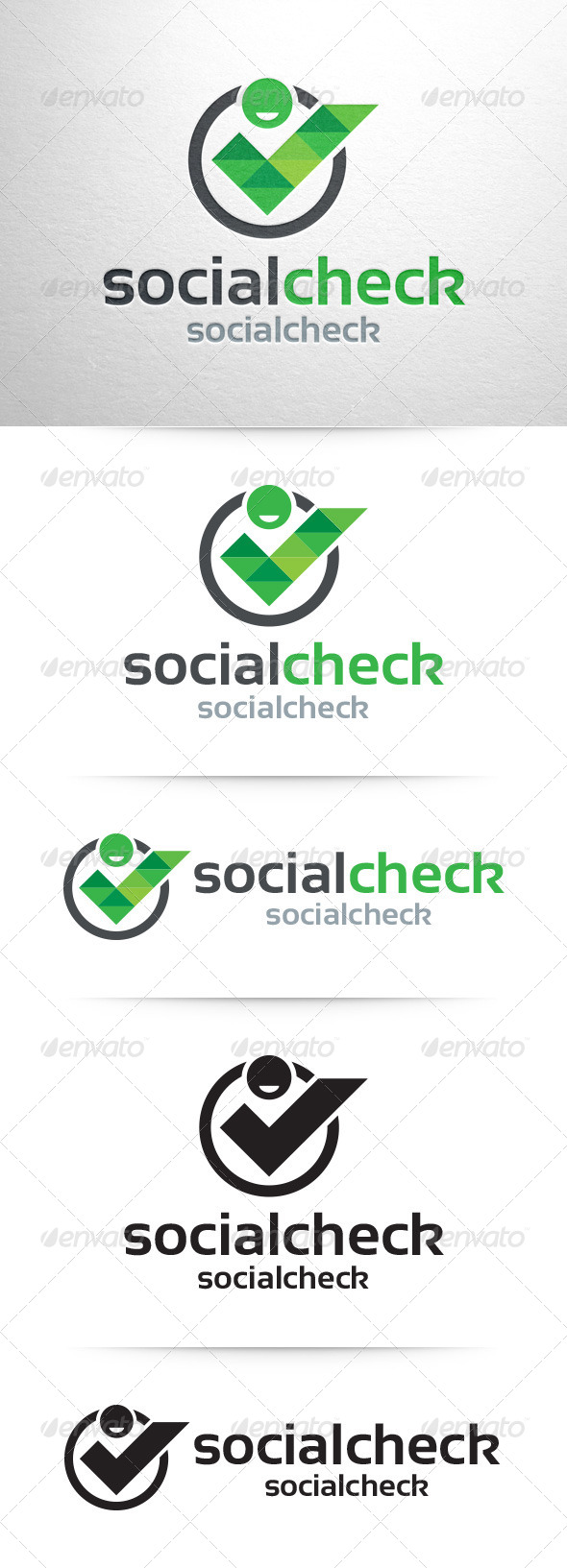 GraphicRiver Social Check Logo Template 7961692