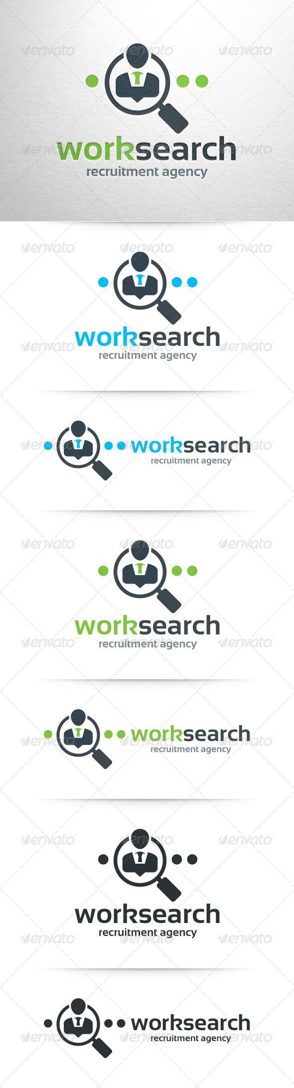GraphicRiver Work Search Logo Template 7962188
