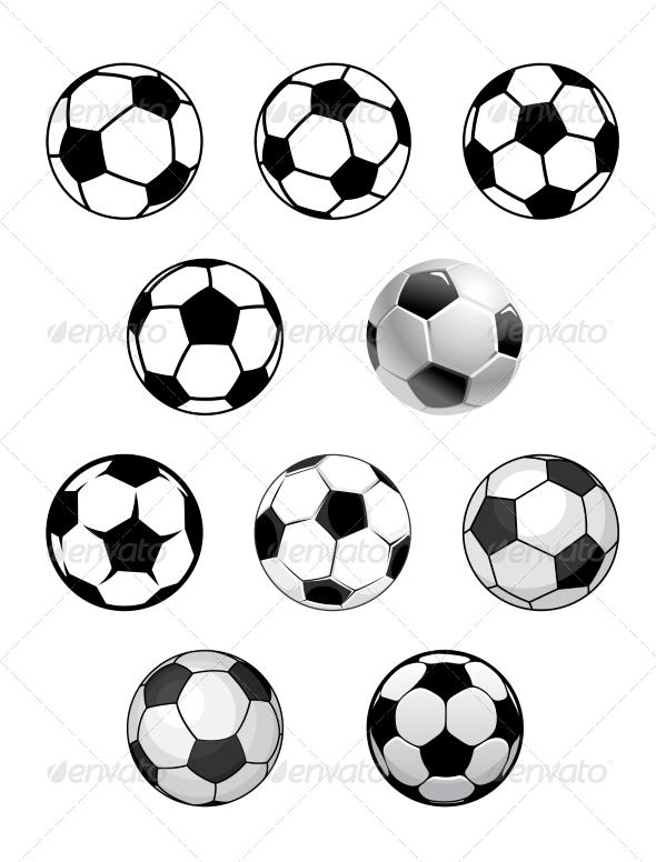 GraphicRiver Set of Soccer Balls 7962192