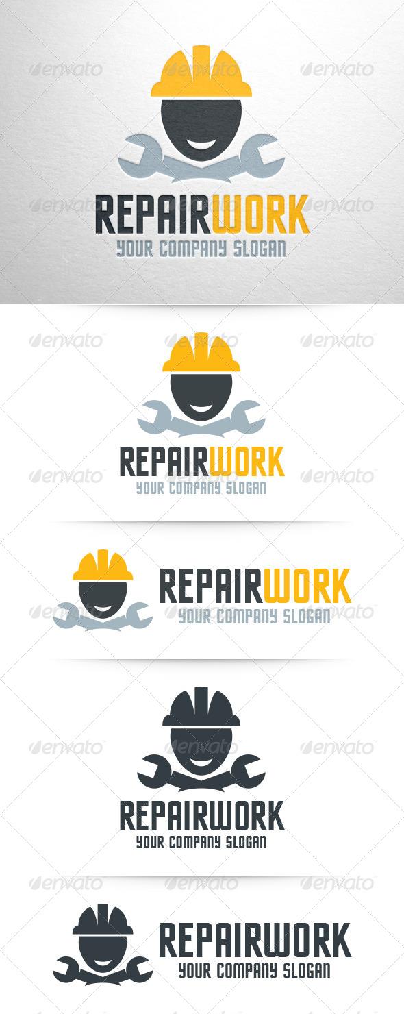 GraphicRiver Repair Work Logo Template 7962216