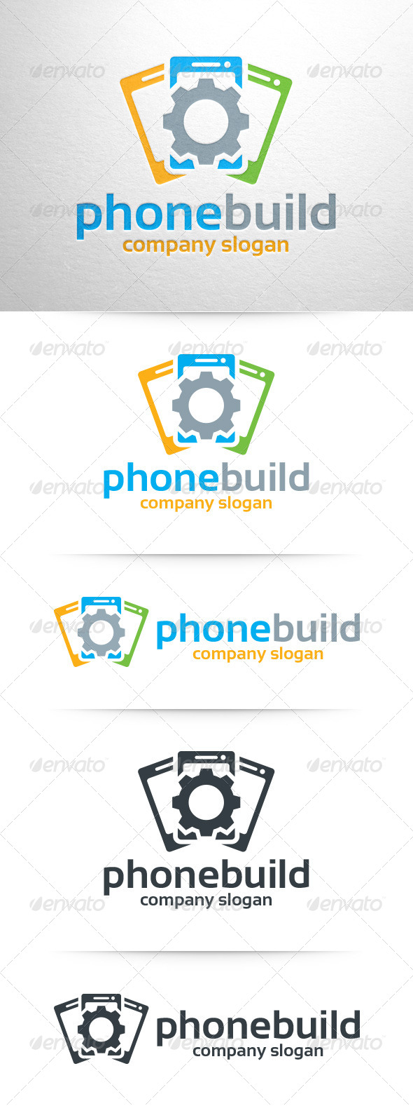 GraphicRiver Phone Build Logo Template 7962292