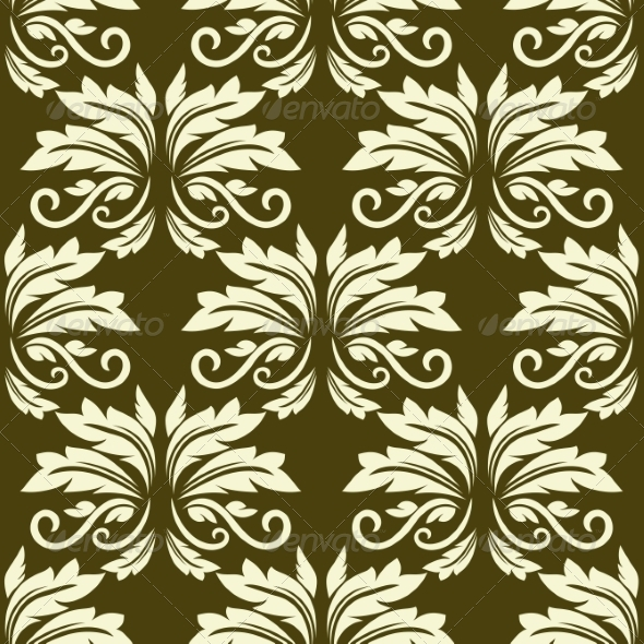 GraphicRiver Floral Seamless Arabesque Pattern 7962415