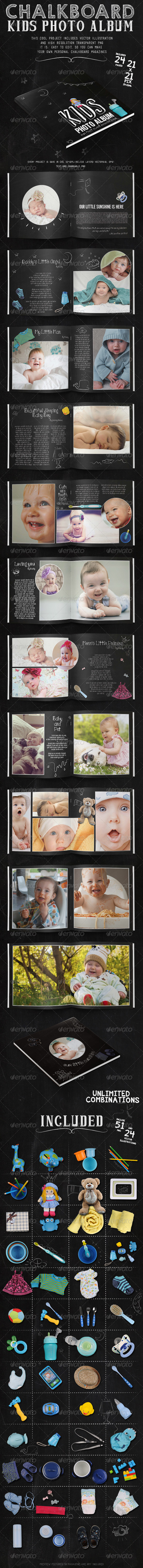 GraphicRiver Kids Chalkboard Photo Album 7962535