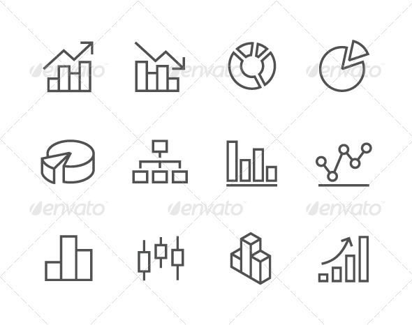 GraphicRiver Outline Graph and Diagram Icons 7962638