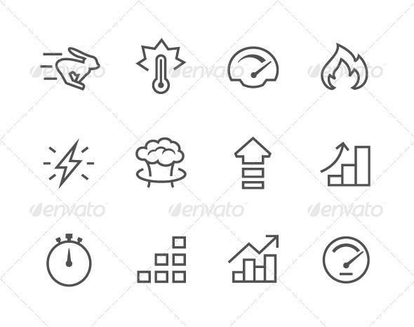 GraphicRiver Simple Icon Set Related to Performance 7962689