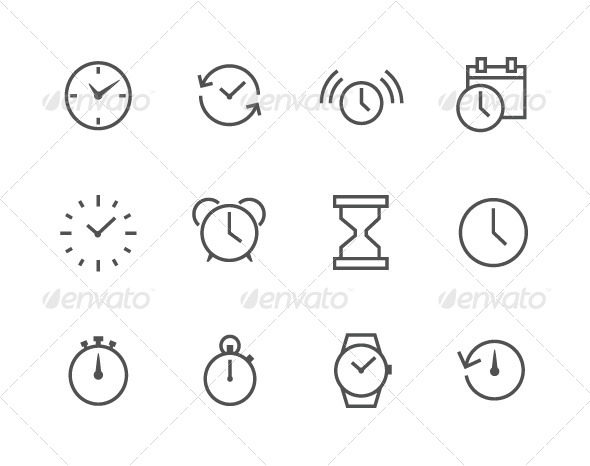 GraphicRiver Outline Time Icons 7962835