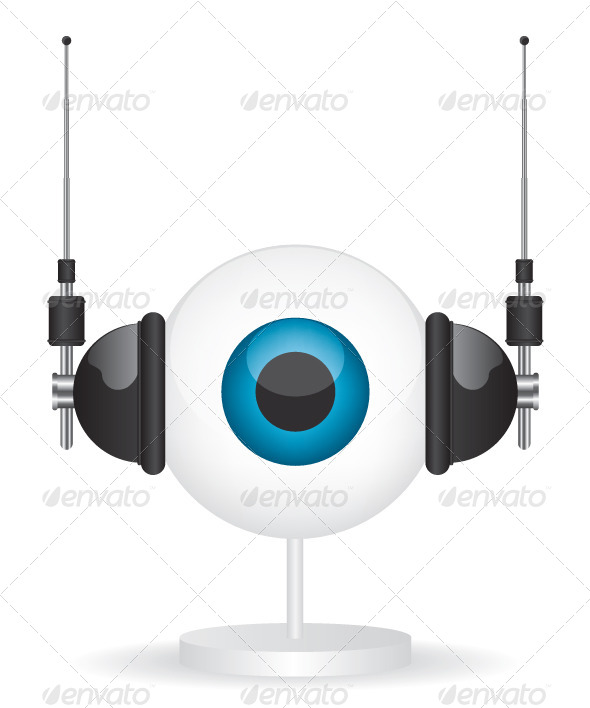 GraphicRiver Eye Camera and Headphones Illustration 7963099