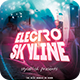Electro Skyline Flyer - GraphicRiver Item for Sale