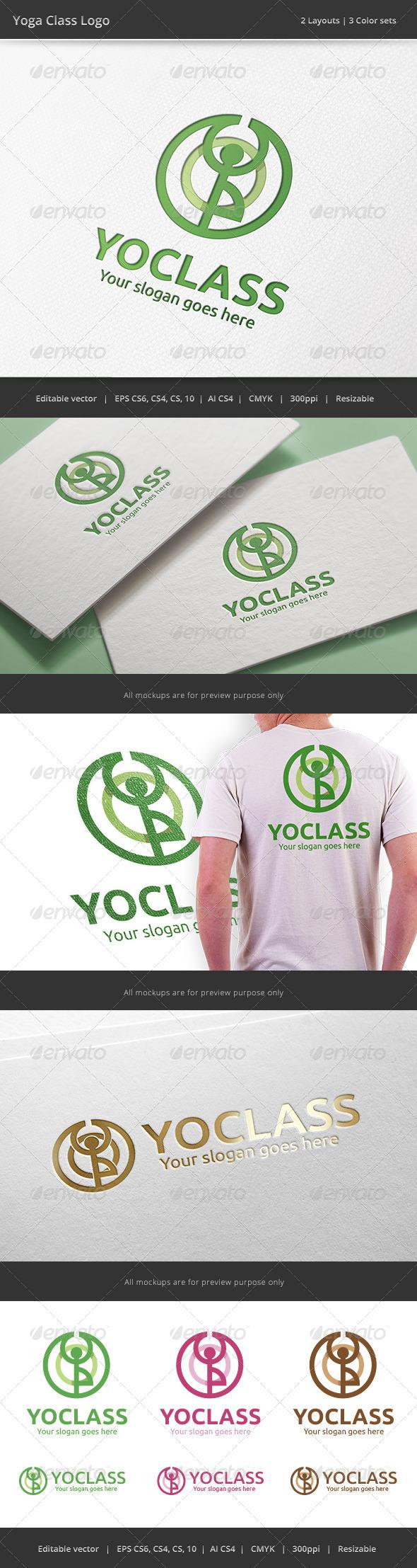 GraphicRiver Yoga Class Logo 7963426