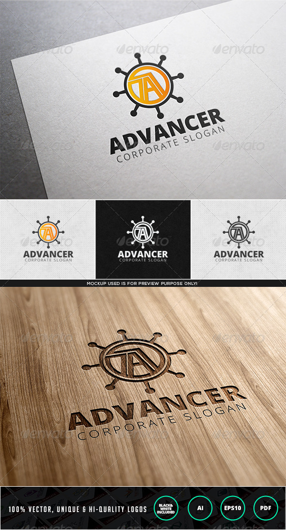 Advancer Logo Template - Letters Logo Templates