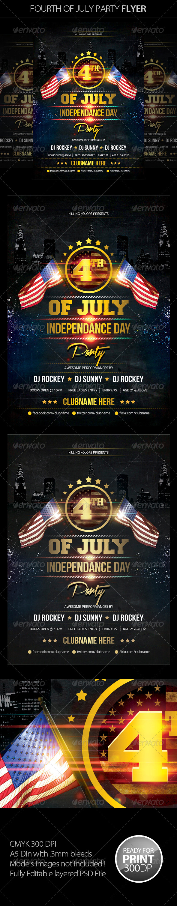 GraphicRiver Fourth of July Party Flyer 7964128