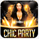 Gold Chic Party Flyer Template - GraphicRiver Item for Sale