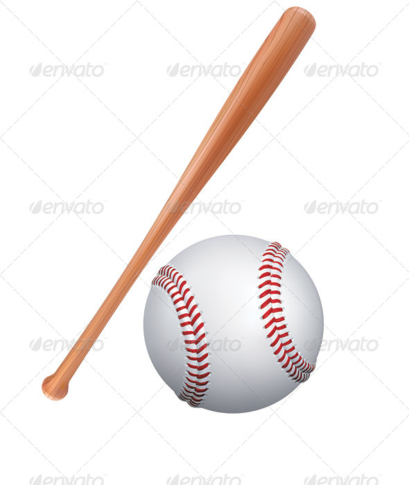 GraphicRiver Baseball Bat and Ball 7964568