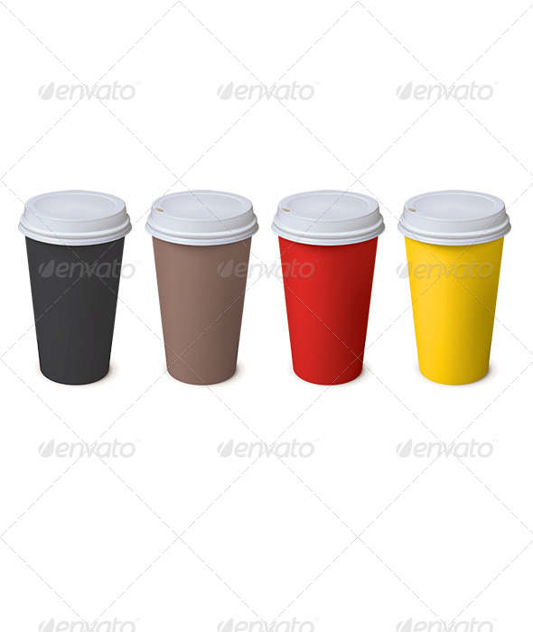 GraphicRiver Paper Cup Set 7964601