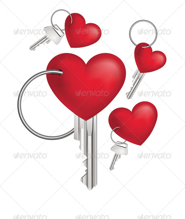 GraphicRiver Key with Red Heart 7964622
