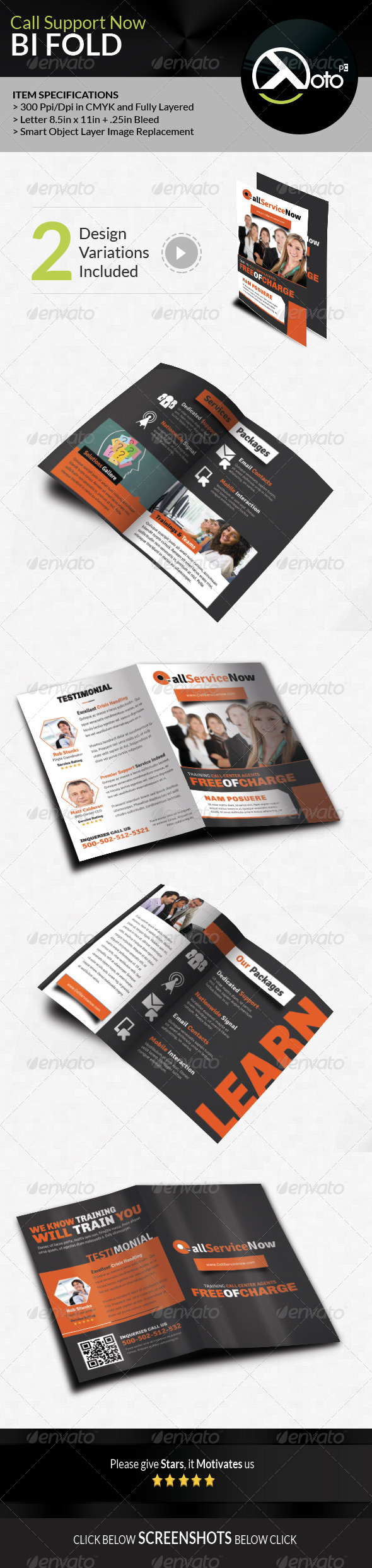GraphicRiver Call Support Now Call Center Solutions Bifold 7964667