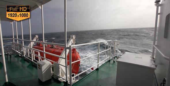 Boat on Atlantic Waves