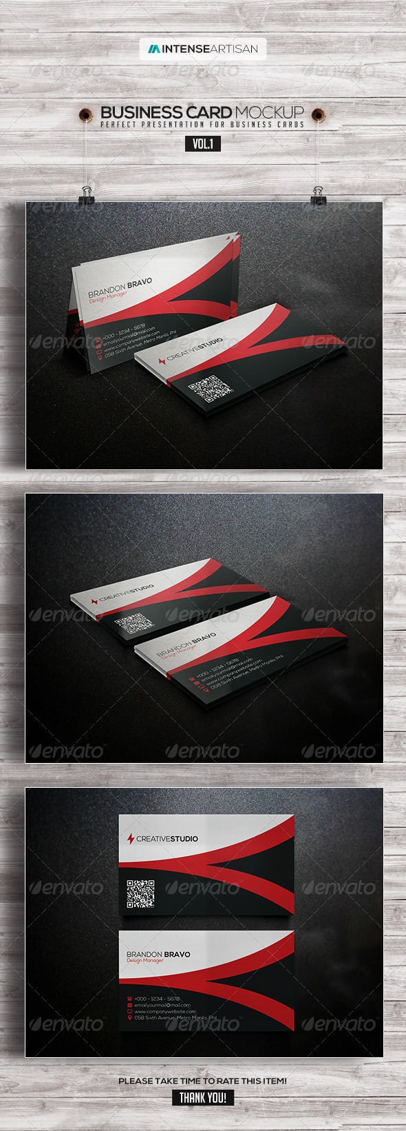 Business Card Mockup V.1 - Product Mock-Ups Graphics