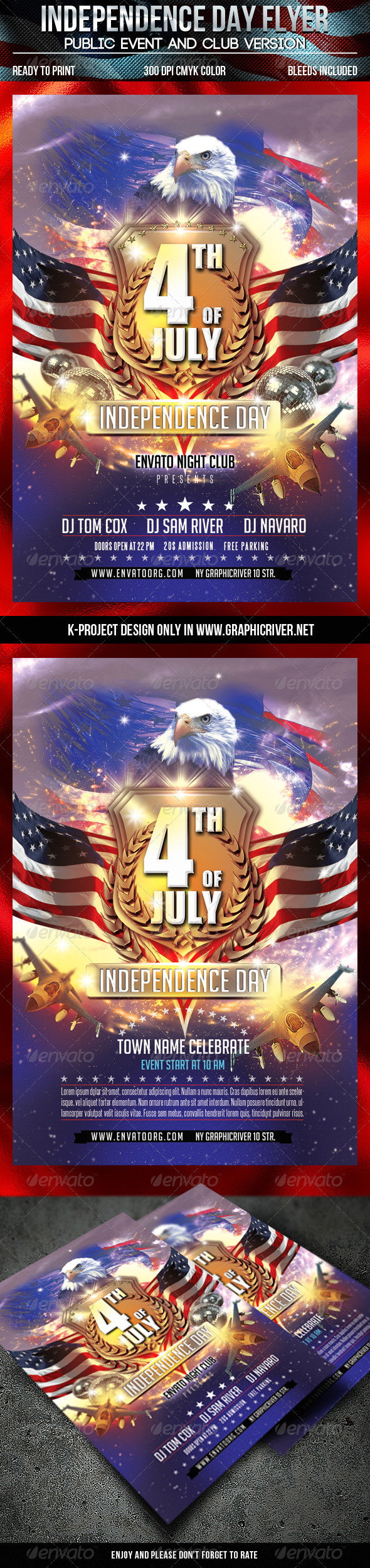 GraphicRiver Independence Day Flyer 7964983