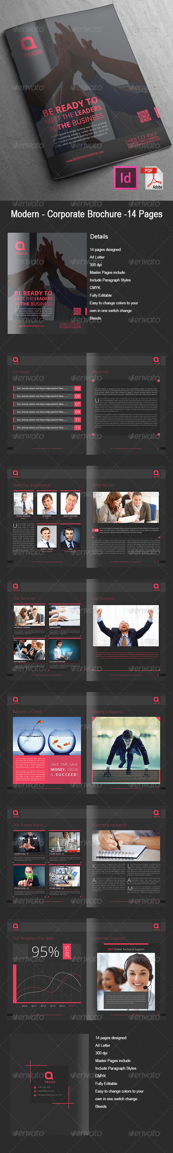 GraphicRiver Modern Corporate Brochure 14 Pages 7965108