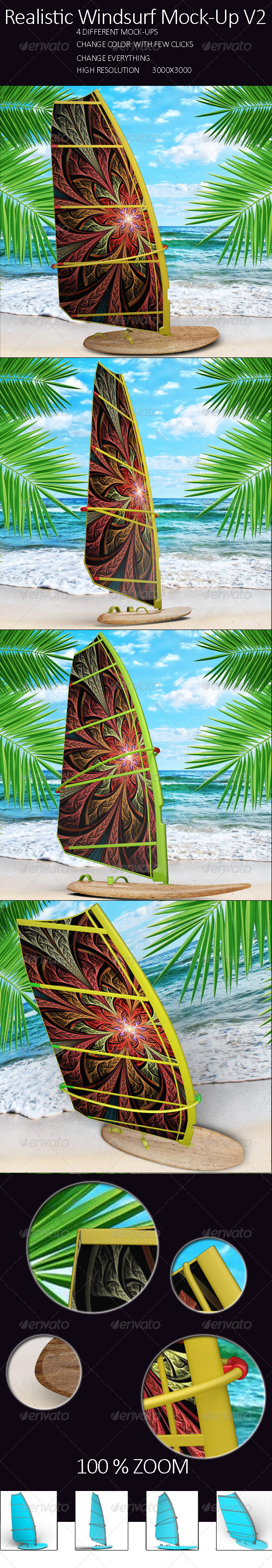 GraphicRiver Realistic Windsurf Mock Up Vol.2 7965766