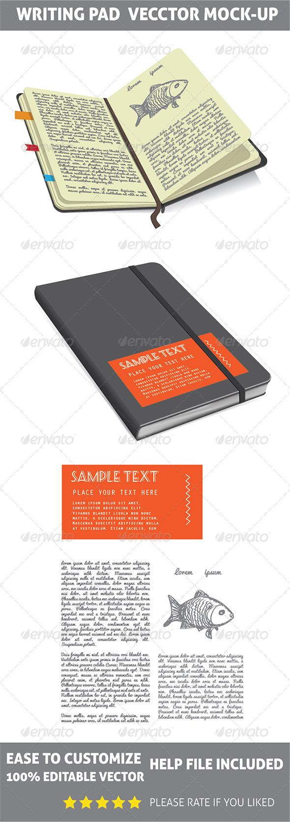 GraphicRiver Writing Pad Mockup 7963178
