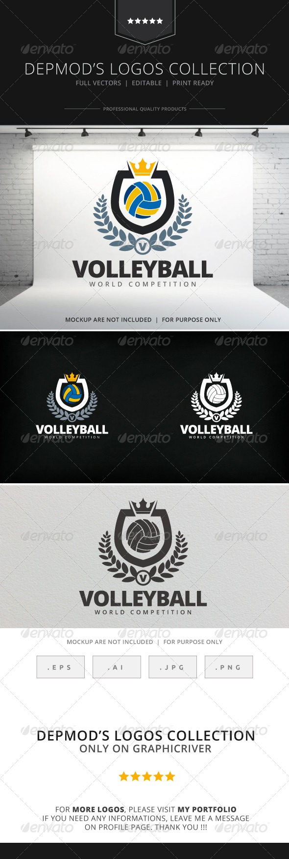 GraphicRiver Volleyball Logo 7965932
