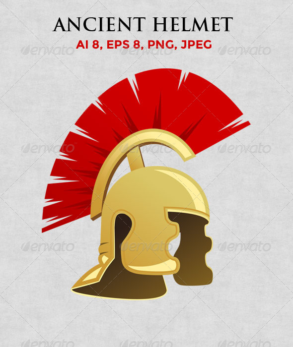 GraphicRiver Ancient Warrior Helmet 7966081