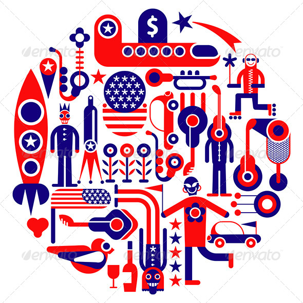GraphicRiver USA Icons 7966309