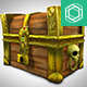 Low Poly Cartoonish Pirate Treasure Chest