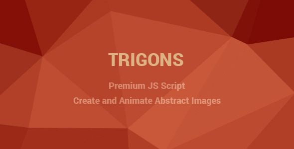 CodeCanyon Trigons Create and Animate Abstract SVG Images 7966387