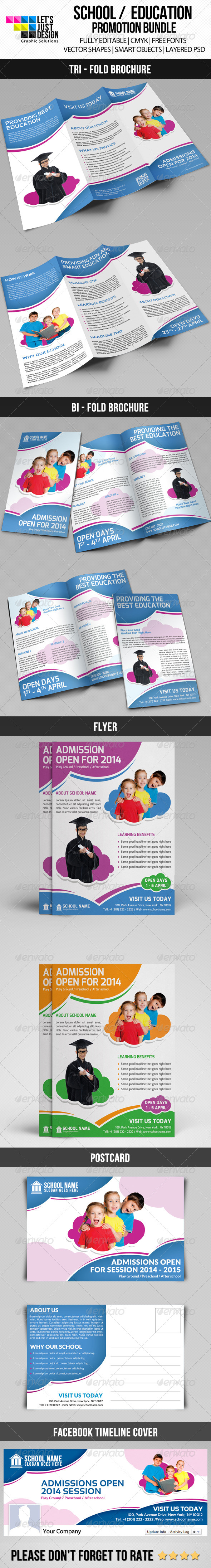 School Promotion Material Bundle