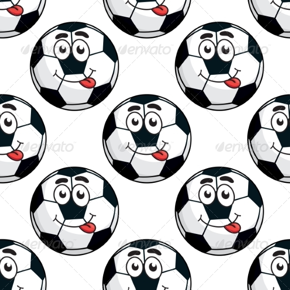 GraphicRiver Goofy Soccer Ball Pattern 7966487