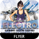 DJ Electro Night Party Flyer - GraphicRiver Item for Sale