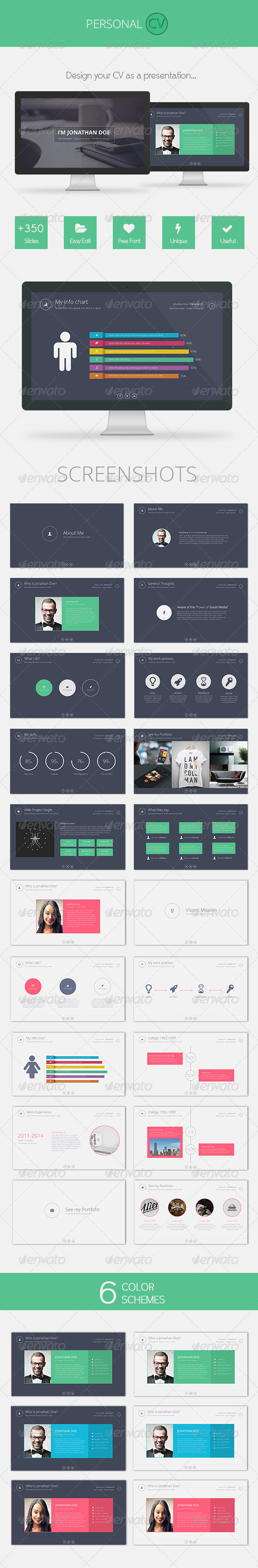 GraphicRiver Personal CV Powerpoint 7966528
