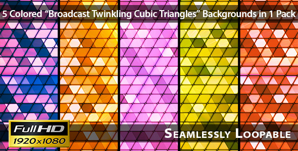 Broadcast Twinkling Cubic Triangles Pack 01