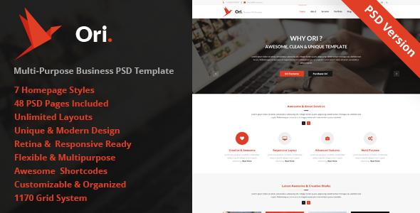 ThemeForest Ori Multi-purpose Business PSD Template 7906976