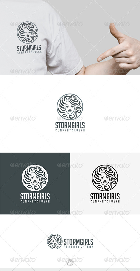 GraphicRiver Storm Girls Logo 7967463