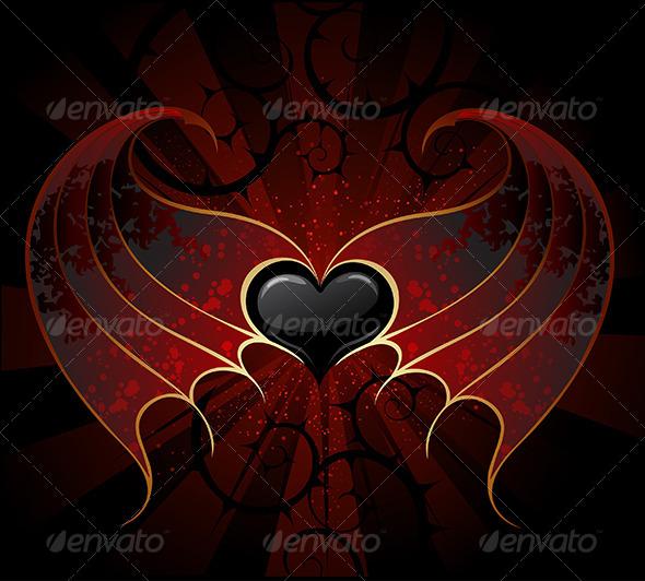 GraphicRiver Gothic Vampire Heart 7967645