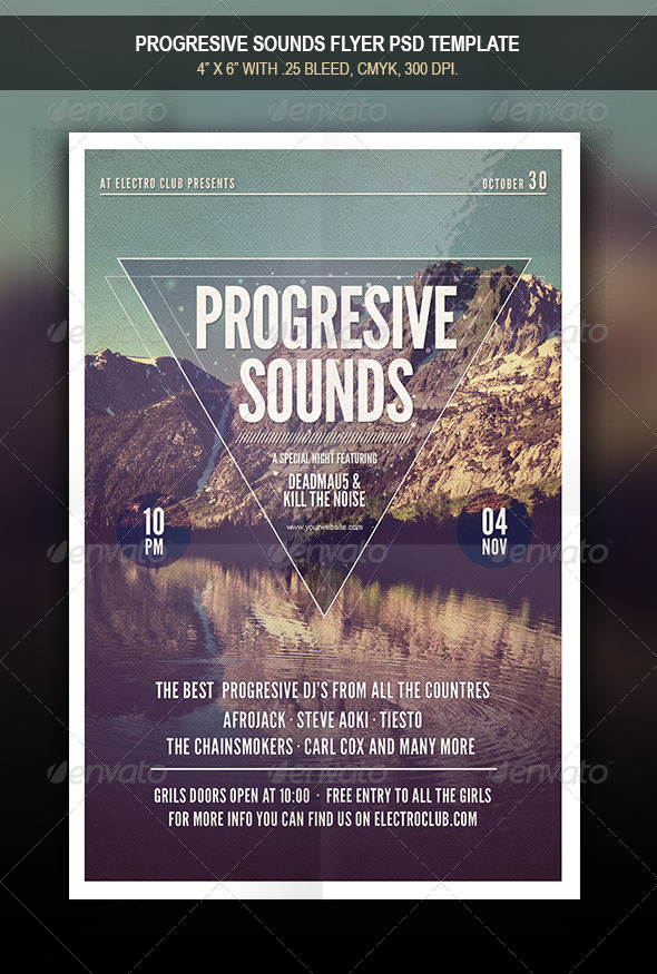 GraphicRiver Progresive Sounds Flyer 7967982