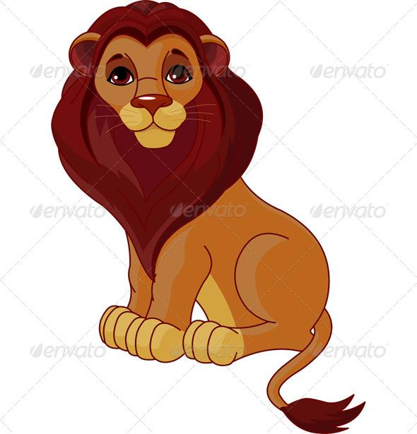 GraphicRiver Sitting Lion 7968044